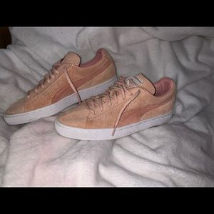 Puma Shoes - Puma light pink suede shoes